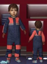 Sims 2 — Navy & Orange Suit - Boys by lechapeau — Categorized as outerwear only. To keep your toddler warm in the