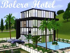 Sims 3 — Bolero Hotel by lilliebou — Hi! This looks like a hotel with a pool, but it is a kind of four-stories loft. On
