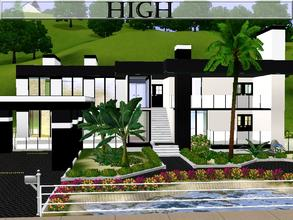 Sims 3 — High by lilliebou — Hi! This is a modern black and white two-stories house. First floor (Bedrooms floor) -Four