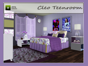 Sims 3 — Cleo Teenroom by Angela — Cleo Teenroom. Modern cozy Teenroom made as request. Set contains; Painting