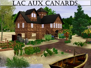 Sims 3 — Lac aux Canards by lilliebou — Hi! This little fisher house has one bedroom, one kitchen, one dining room and