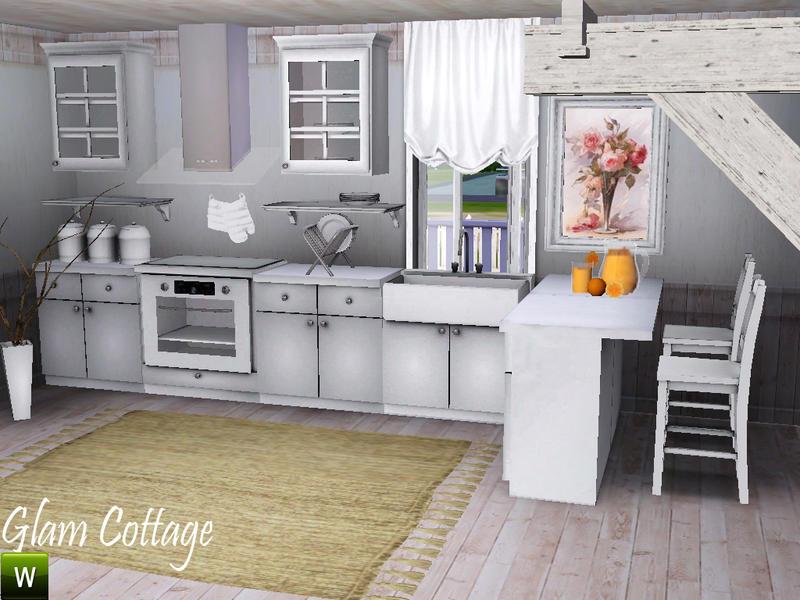 Deeiutza S Glam Cottage Kitchen