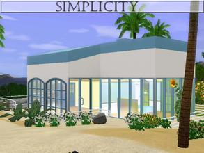 Sims 3 — Simplicity by lilliebou — Hi! Here are some details about this little house: It has three rooms: one bathroom,
