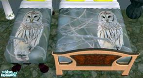 Sims 2 — Owl Bedding 01 Cody B by codybryant49 — Here is my first bedding recolor for your sims to enjoy, I call this art