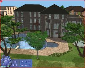 Sims 2 — 701 Dr. Temperance Brennan St. by Anakin_Stupaine — 3 Story house, large pool, 2 garages.