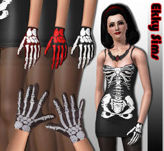 Sims 3 — Skeleton Gloves by Ekky_Sims —