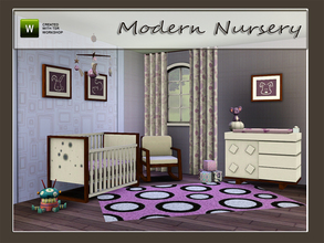Sims 3 — Modern Nursery by Angela — Modern Nursery. Most parts of this set i have redone from my Sims2 set. Set contains: