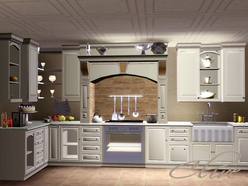 Shinokcr 39 s clive kitchen for Cc kitchen cabinets