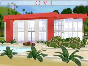 Sims 3 — O V I by lilliebou — Hi! Here are some details about this house: First floor: -Interior pool -Two bathrooms -One