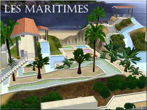Sims 3 — Les Maritimes by lilliebou — Hi! Your families are going to have fun in this water park! There is an area for