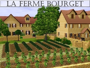 Sims 3 — La Ferme Bourget by lilliebou — Hi! This is a set of three houses for your french medieval farm. 1. The first
