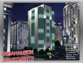 Sims 3 — Abrahamson Apartments by estatica — Centrally located, the Abrahamson apartments is a favorite among the coolest
