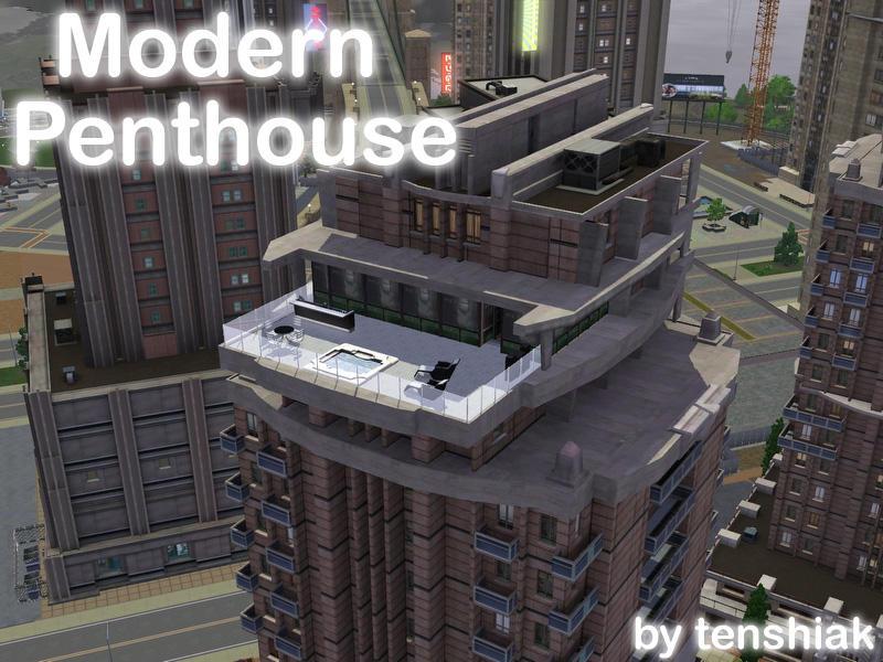 Tenshiak S Modern Penthouse No Cc