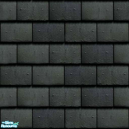Uma Design S Flat Roof Tile Dark Grey Slate