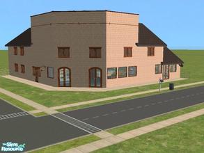 Sims 2 — Beacon Falls Add On: Corner Shop & House by lechapeau — Home business lot, grocery store in a basicly
