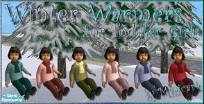 Sims 2 — Winter Warmers for Toddler Girls by minicart — A set of six outdoor winter clothing for your toddler girls.