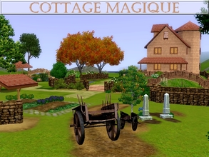 Sims 3 — Cottage Magique by lilliebou — Hi ! This lot set has one residential lot and two community lots. The residential