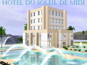Sims 3 — Hotel du soleil de midi by lilliebou — Hi ! This apartment requires Late Night. Your sims will move on the
