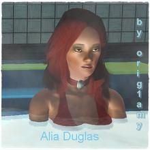 Sims 3 — Alia Duglas by orig1amy — Requed EP1,EP2,EP3 + store; by orig1amy Spouse Ostin Douglas. Load also the husband.