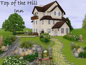 Sims 3 — Top of the Hill Inn by lilliebou — Hi ! This little hill is perfect for a family of three of four members. It is