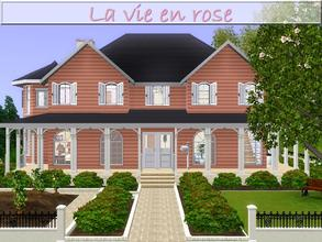 Sims 3 — La vie en rose by lilliebou — Hi ! Here are some details about this house: First floor: -Living room -Kitchen +