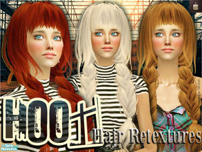 Sims 2 — HOOT Hair Retextures by haiduong — A set of 6 hair colors: caramel, chocolate, coffee, blond, red, platina