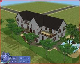 Sims 2 — 465 Dr. Temperance Brennan St. by Anakin_Stupaine — Large villa for 4 persons. 2 pools and loads of balcony's.