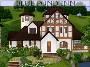 Sims 3 — Blue Pond Inn by lilliebou — Hi ! This little house is built like an old inn. On the first floor, there is the