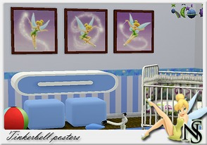 Sims 3 — Nea-Lill Tink by Nea-005 — Kids room painting Tinkerbell