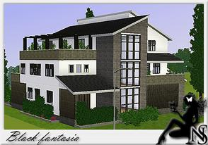 Sims 3 — Black fantasia by Nea-005 — 3stories: Livingroom, Diningroom, Kitchen, 5 bedrooms, 3 bathrooms; Made By Nea Sims