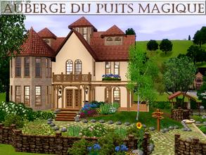 Sims 3 — Auberge du puits magique by lilliebou — Hi ! Here are some details about this inn: First floor: -Entrance