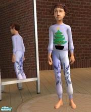 Sims 2 — Happy holiday pyjamas 1 by melaniecox — This is my first clothing entry for the happy holiday competition. Child