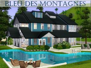 Sims 3 — Bleu des Montagnes [UPDATED] by lilliebou — Hi ! Here are some details about this house: First floor: -Kitchen +