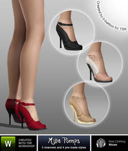 Sims 3 — Milla Pumps by b-bettina — A pack of fashionable designer pumps with straps and extra high heels. 3 recolorable