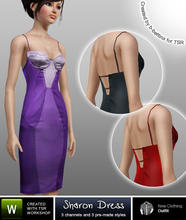 Sims 3 — Sharon Dress by b-bettina — A pack of effortlessly cool cocktail dresses. 3 recolorable channels, 3 pre-made