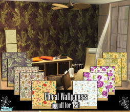 Sims 2 — Floral Wallpapers by ayyuff — Cost:2