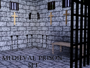 Sims 3 — Medieval Prison Set by lilliebou — Hi! This is a medieval prison set. It includes the following items: x1