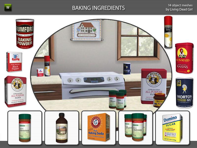 Living Dead Girl's Baking Ingredients