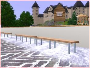 Sims 3 — Banc des joueurs by lilliebou — You can find this seat under Miscellaneous Comfort. Two parts recolorable.