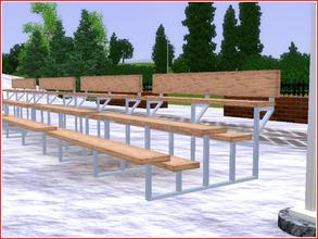 Sims 3 — Gradins de spectateurs by lilliebou — You can find this seat under Miscellaneous comfort for 150 simoleons. Two