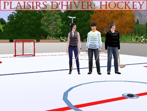 Sims 3 — Plaisirs d'hiver: Hockey by lilliebou — Hi ! This set is composed of 11 items with hockey for theme. They are