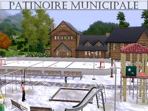 Sims 3 — Patinoire Municipale by lilliebou — Hi ! Here are some details about this community lot: Outdoor: -Hockey ice