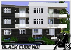 Sims 3 — Black Cube No1 by Nea-005 — Made by NeaSims (neasims3.blog.hr) ; 3 floors; kitchen, diningroom, livingroom,