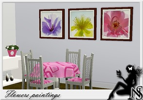 Sims 3 — Nea-Flowers by Nea-005 — painting flowers; photos by Ingrid Ulmer