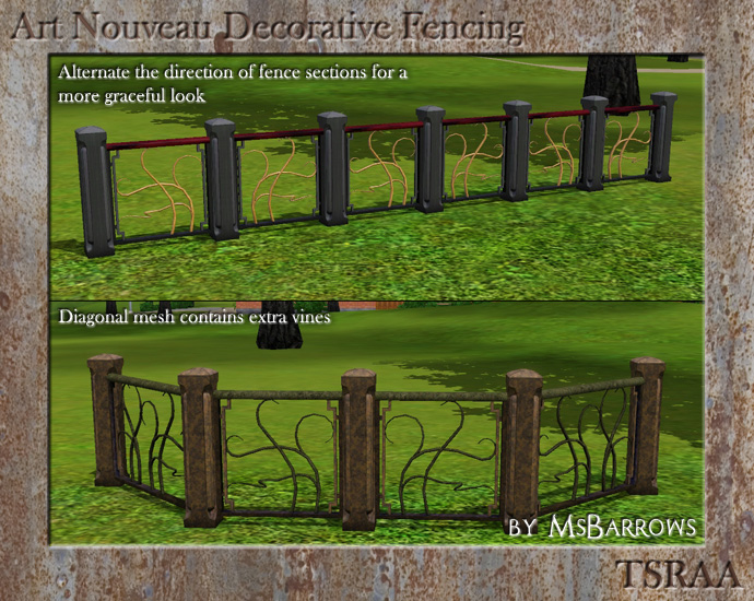 art nouveau decorative fencing - Decorative Fencing