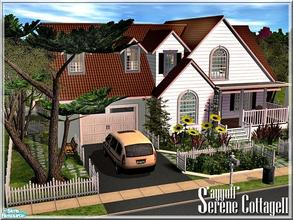 Sims 2 — Serene CottageO2 *Furnished Version* by ayyuff — 3x3(medium lot)Fully furnished..Please see the unfurnished
