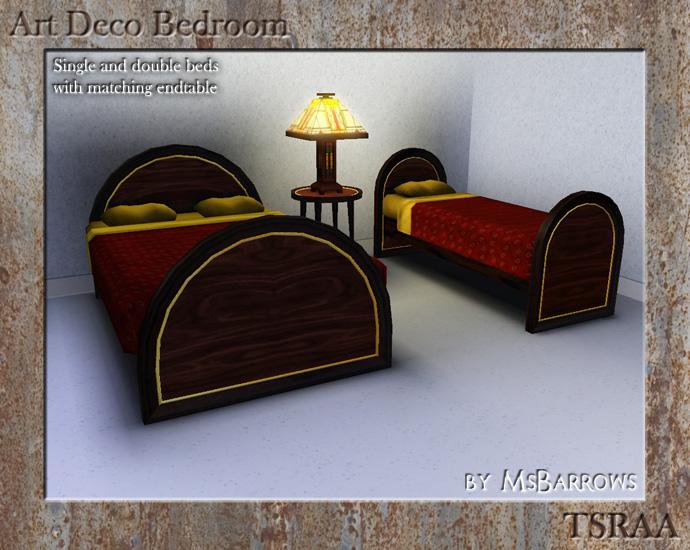 MsBarrows 39 Art Deco Bedroom Set