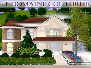 Sims 3 — Le domaine Couturier by lilliebou — Hi ! Here are some details about this house: First floor: -Kitchen -Dining