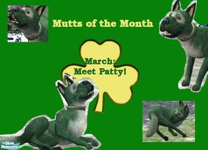 Sims 2 — Mutt's of the Month: March by Small Town Sim — Meet March's Mutt, Patti! She is everything thing that makes this