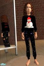 Sims 2 — Snowman pyjamas by melaniecox — A delightful addition to your children sims wardrobe. This Jolly little fella is